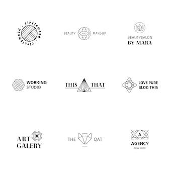 Miscellanea collezione di logo