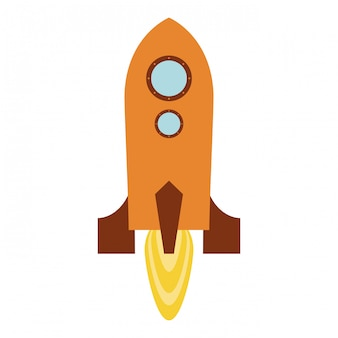 Missile decollando simbolo