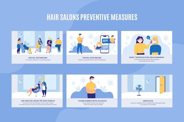 Misure preventive per i saloni di capelli