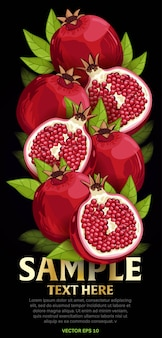 Mix di frutta con foglie