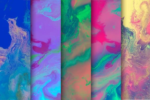 Mix di sfondo colorato collezione di marmo