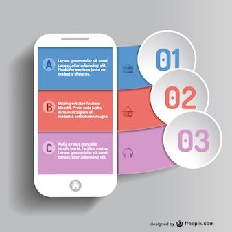Mobile app infografica vettore