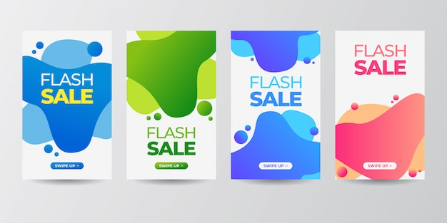 Mobile fluido dinamico moderno per set di banner in vendita flash