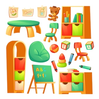 Mobili nella scuola materna montessori