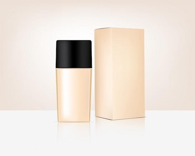 Mock up cosmetico organico realistico e scatola per la cura della pelle