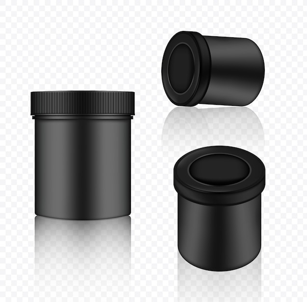 Mock up realistic jar packaging product