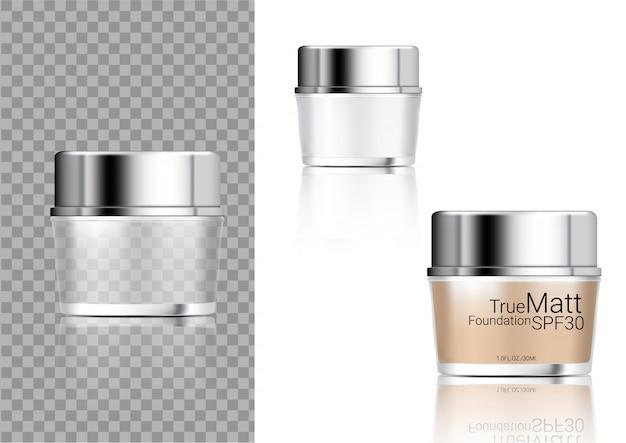 Mock up realistic transparent jar bottle