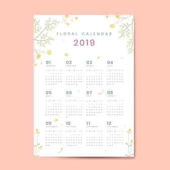 Mockup calendario floreale