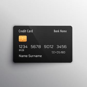 Mockup carta di debito di credito