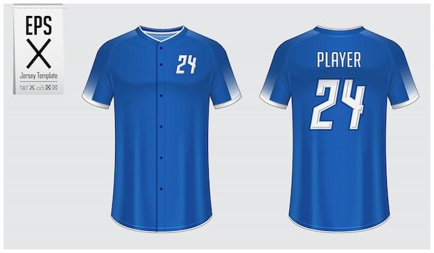 Mockup della maglia da baseball