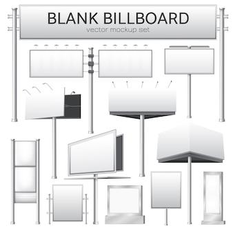 Mockup di cartellone bianco per la pubblicità