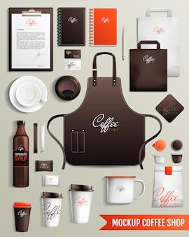 Mockup di design da caffetteria