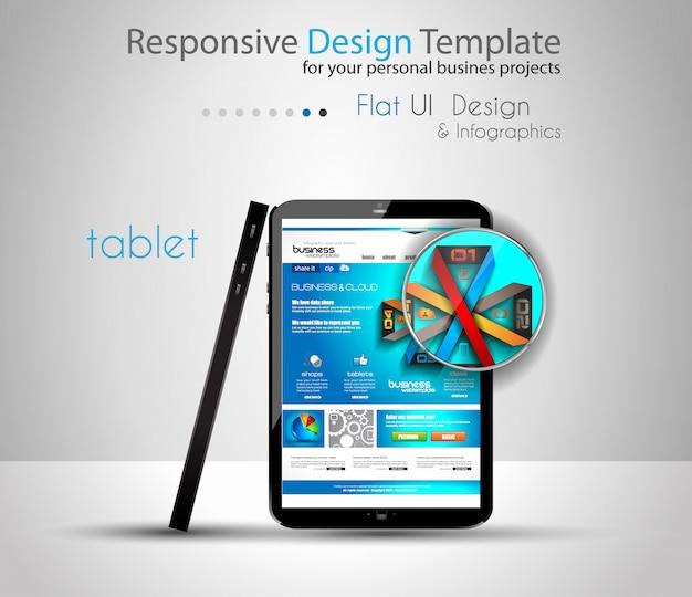Mockup di dispositivi moderni con modello web