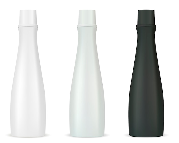 Mockup di flaconi per cosmetici per shampoo gel