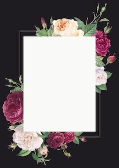 Mockup di invito a nozze design floreale