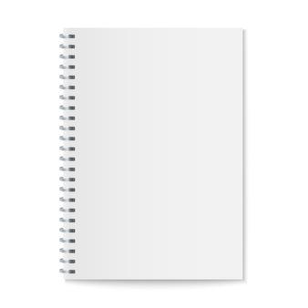 Mockup di notebook spirale realistico, copertina di quaderno modello.