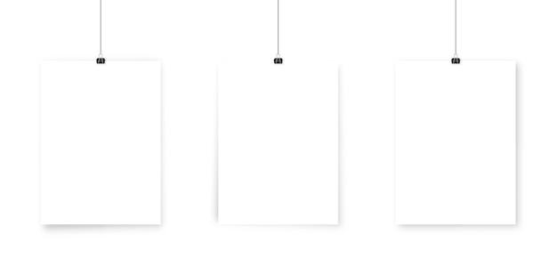 Mockup di poster di carta bianca.