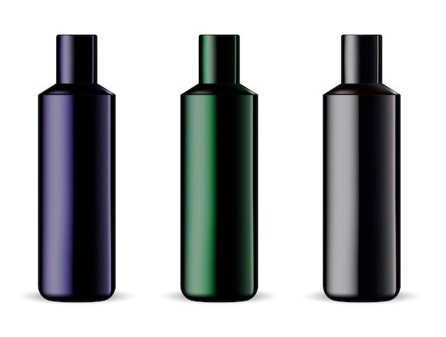 Mockup di prodotti cosmetici per shampoo o gel doccia
