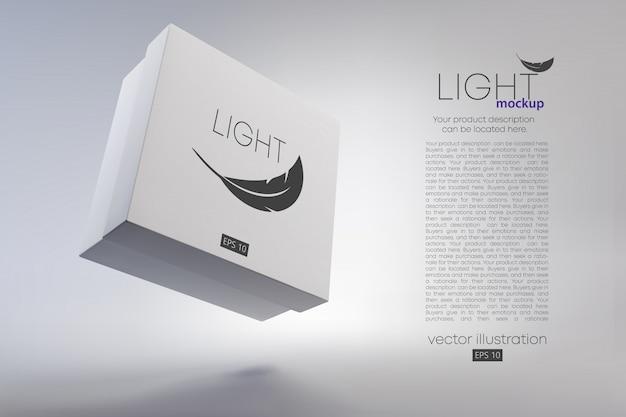 Mockup di scatole di cartone 3d. sfondo e testo su un livello separato, il colore può essere cambiato con un clic.