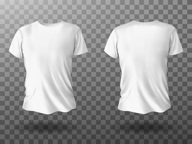 Mockup di t-shirt bianca, t-shirt con maniche corte