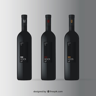 Mockup wine