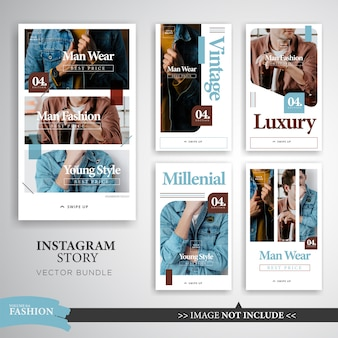 Moda colorata compongono instagram stories template
