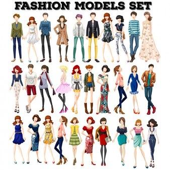 Moda modelli impostati