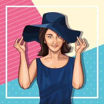 Moda pop art e bella donna fumetto