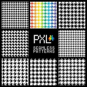 Moda seamless pattern di stile pixel trend tessitura per le industrie tessili