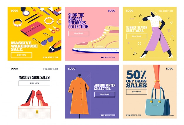 Moda shopping social media post collezione instagram