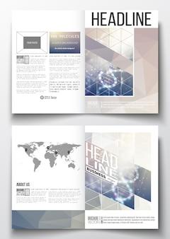 Modelli a4 per brochure con sfondi poligonali