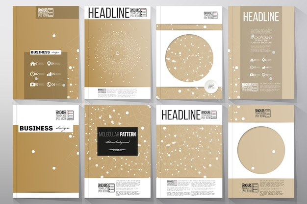 Modelli a4 per brochure, riviste, volantini, opuscoli,