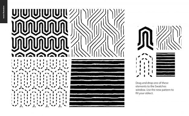Modelli astratti senza soluzione di continuità. linee geometriche, punti e forme