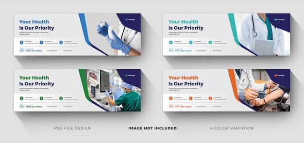 Modelli di banner aziendali di paesaggio medico