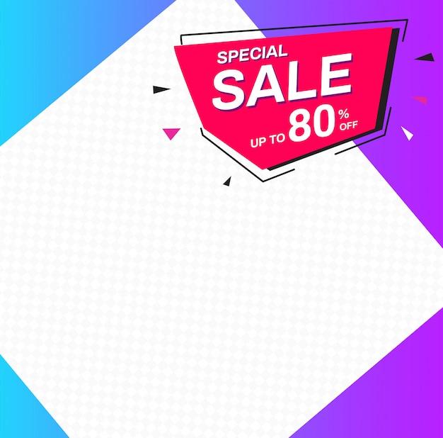 Modelli di banner di vendita. vendita speciale fino all'80% di sconto.
