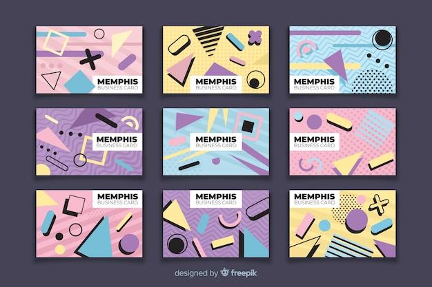 Modelli di biglietti da visita in stile memphis