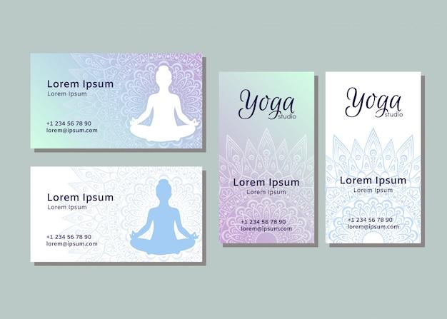 Modelli di biglietti da visita per studio di yoga