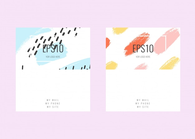 Modelli di biglietti da visita universali contemporanei. design namecard