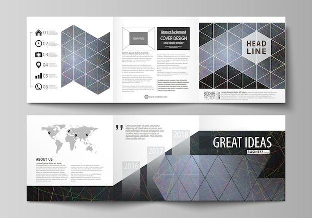 Modelli di business per brochure di design quadrati ripiegabili