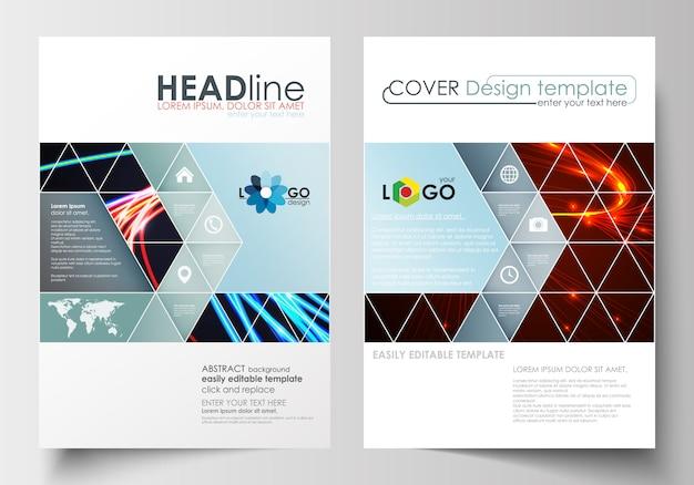 Modelli di business per brochure, flyer, opuscoli o report
