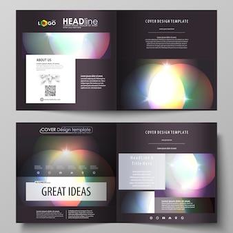 Modelli di business per brochure quadrati bi fold