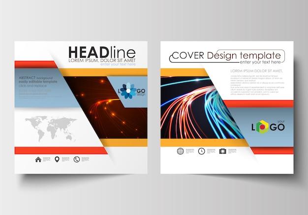 Modelli di business per brochure quadrati