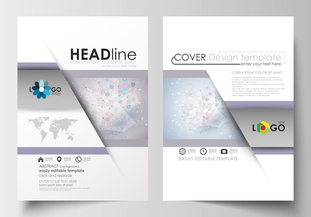 Modelli di business per brochure, riviste, volantini. modello di copertina