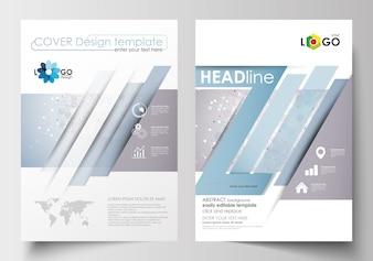 Modelli di business per brochure, riviste, volantini, opuscoli. Modello di copertina