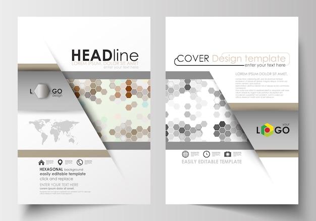 Modelli di business per brochure, riviste, volantini, opuscoli o report.