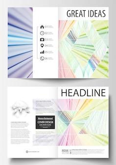 Modelli di business per la brochure bi fold