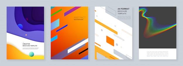 Modelli di copertina minimali con motivi geometrici