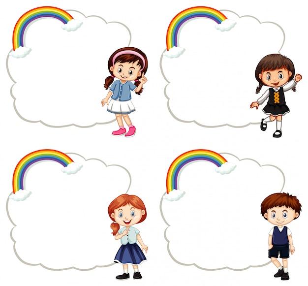 Modelli di cornice con bambini carini