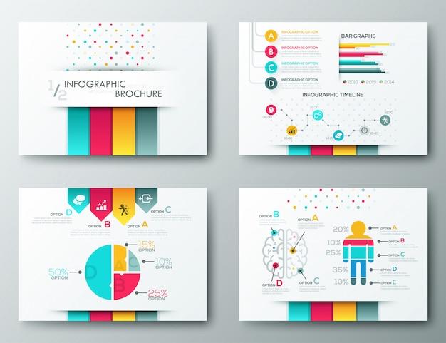 Modelli di design brochure, elementi di infografica
