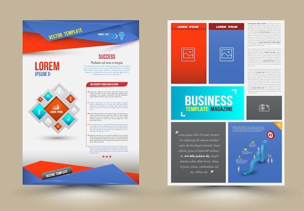 Modelli di design brochure flyer